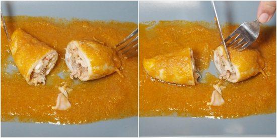 Calamares rellenos en salsa, una receta para chuparse los dedos