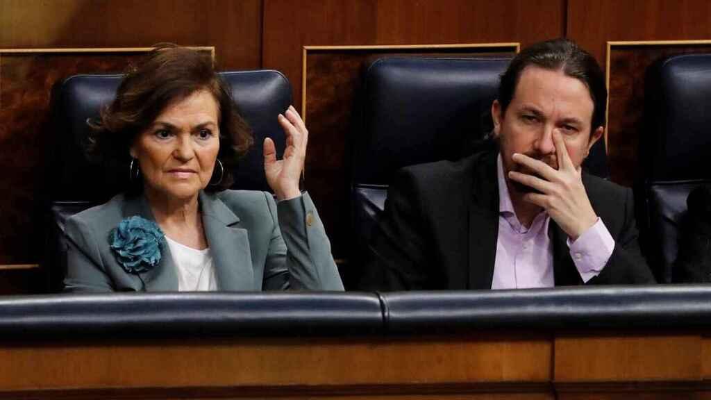 'Fraticidio Político': Iglesias usa el panfleto de Dina para hostigar a Carmen Calvo