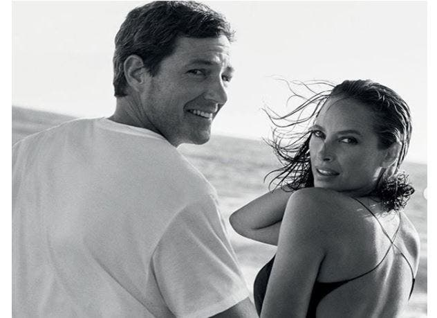 Christy Turlington y Edward Burns