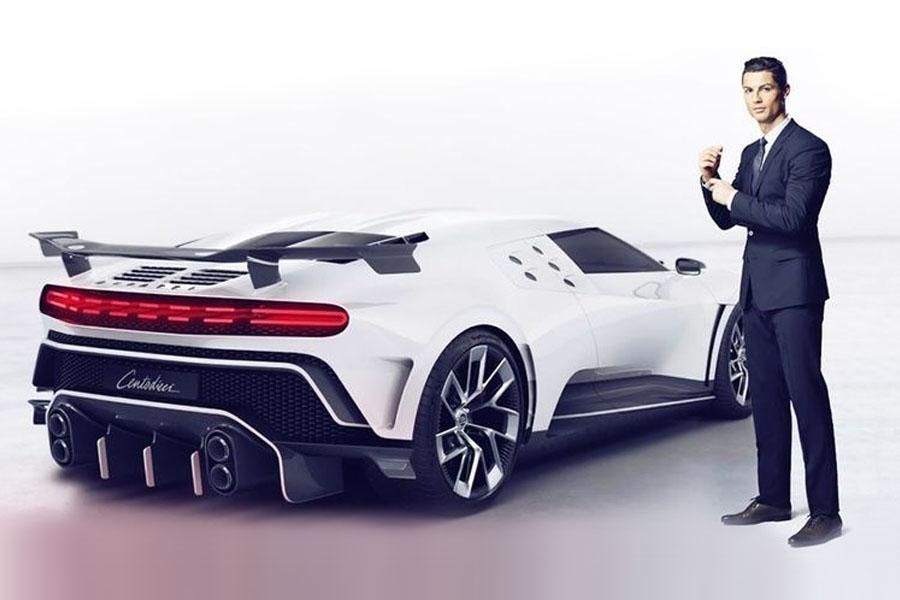 El Bugatti Centodieci de Cristiano Ronaldo: supera los 490km/h y sólo hay 10 en el mundo