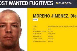 Diego Moreno, el único español entre la lista de los delincuentes más buscados por la Europol
