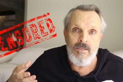 La mordaza de 'Newtrola' censura a Miguel Bosé por apoyar a los antimascarillas en Facebook