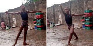 El niño descalzo, que bailaba bajo la lluvia en Africa, estudiará ballet en Nueva York