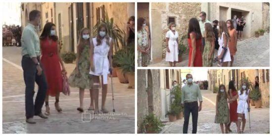 La 'mala pata' de la Infanta Sofía: reaparece en Mallorca con una muleta y cinco puntos de sutura