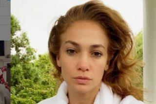 "Un ""selfie"" sin maquillaje de Jennifer López revoluciona las redes"