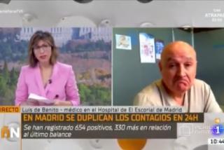 Un médico desmonta en un plis plas el discurso alarmista de TVE sobre la saturación de los hospitales madrileños