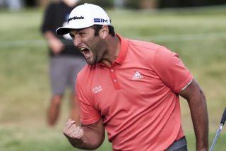Golf: este es el putt imposible desde 20 metros que le dio la victoria a Jon Rahm
