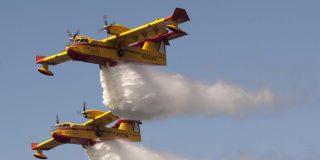 Se mata el copiloto al estrellarse un hidroavión que extinguía un incendio forestal en Orense