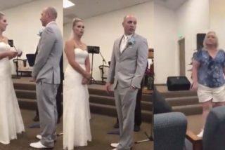 En plena boda, la feroz suegra interrumpe la ceremonia y esto es lo que pasa