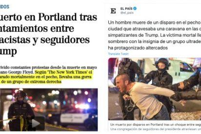 Los medios españoles blanquean el asesinato de un seguidor de Trump cosido a balazos por los 'Black Lives Matter'