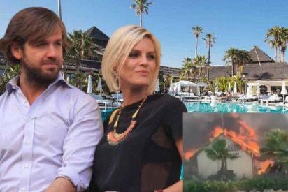 Arrestadas dos personas por el incendio de Estepona que arrasó el club Puro Beach y un centro comercial