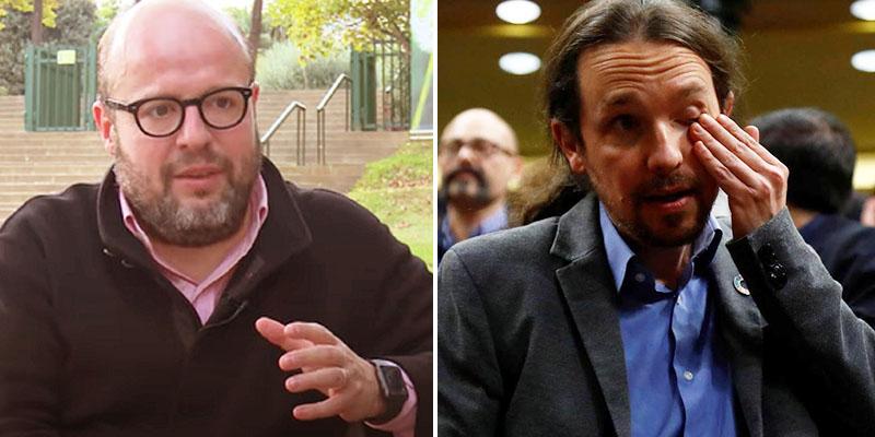 """Bestial azotaina de Sostres a Iglesias por huir de Asturias por unas pintadas: """"Cobarde, pantomima, cursi, quejica, impostor, patético payaso"""""""