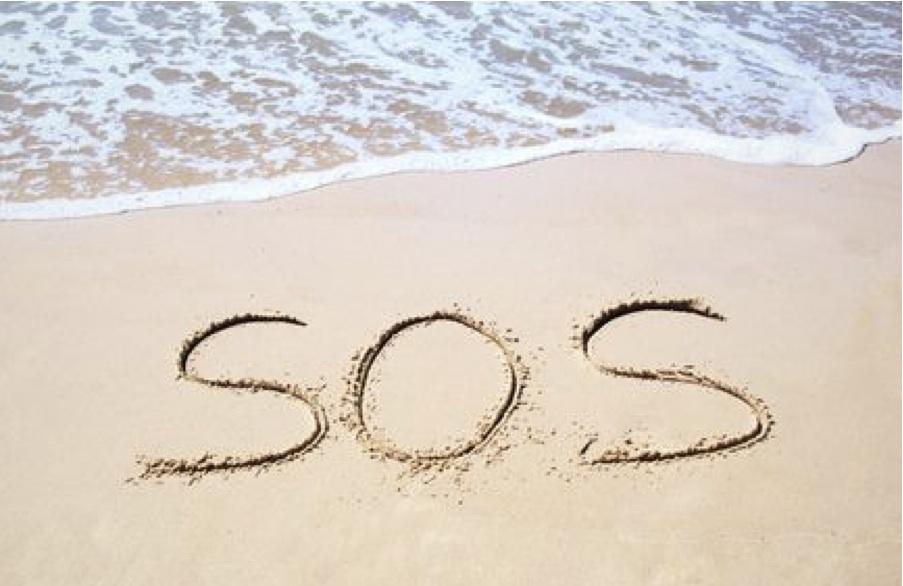 3 náufragos son rescatados en una isla desierta del Pacífico gracias a escribir un enorme SOS en la arena