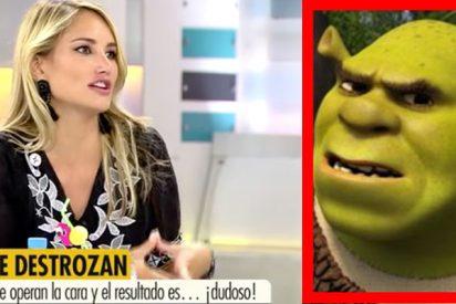 La brutal mofa de Alba Carrillo contra Diego Matamoros llamándolo Shrek por su 'nueva cara'