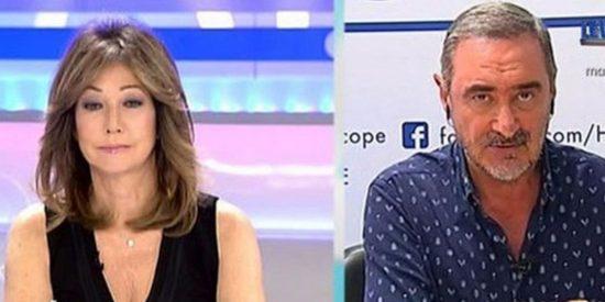 Violento plan de Podemos: acoso, escrache y amenazas a Ana Rosa Quintana, Vicente Vallés y Carlos Herrera