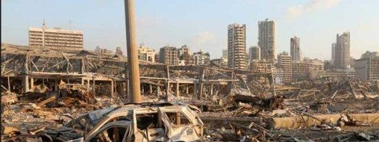 """El vídeo de cómo ha quedado Beirut tras las brutales explosiones provocadas por """"nitrato de amonio almacenado"""""""