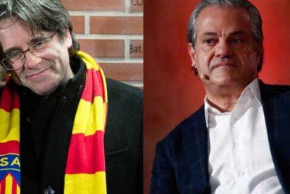 """Marcos de Quinto retrata al fugado Puigdemont por criticar """"la huida"""" de Juan Carlos I: """"¿Pero este tío es gilipollas?"""""""