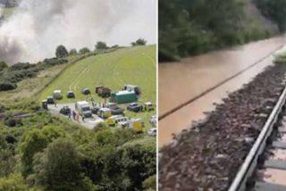 Escocia: tres muertos y seis heridos tras descarrilarse e incendiarse un tren