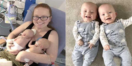 ¡Increíble! Una joven británica da a luz a sus mellizos con dos días de diferencia