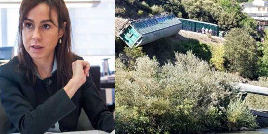 La 'gubernamental' ADIF, dirigida por la hermana de Ana Pardo de Vera, la lía por tirar al río Sil dos vagones de tren descarrilados