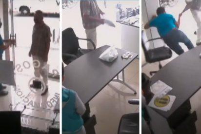 Un ladrón armado con un plátano maduro intentó robar en una funeraria