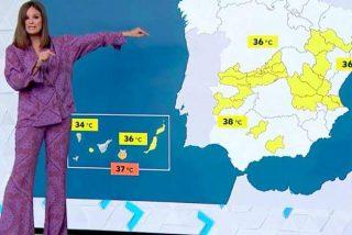 """A los directivos de Atresmedia se les va la olla: la mujer de 'El tiempo de Antena 3' presenta """"en pijama"""""""