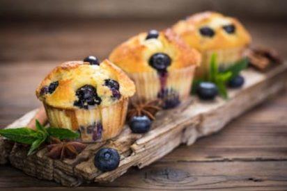 Muffins de arándanos fáciles