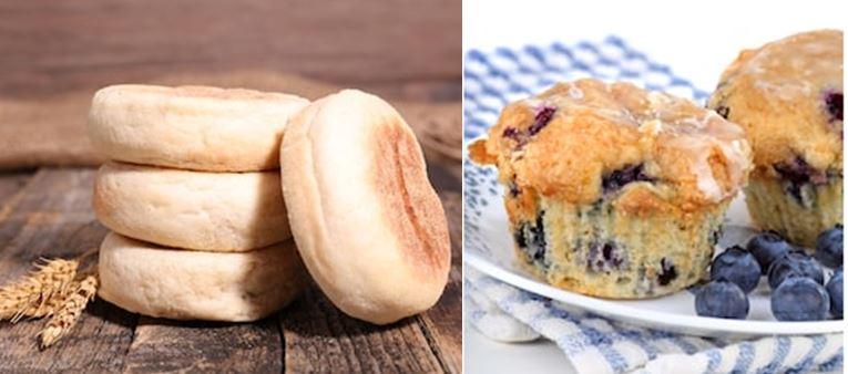 english muffins - american muffins