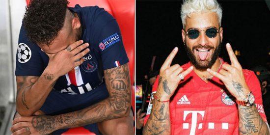 El verdadero campeón de la Champions 2020 fue el cantante Maluma; para disgusto y humillación de Neymar