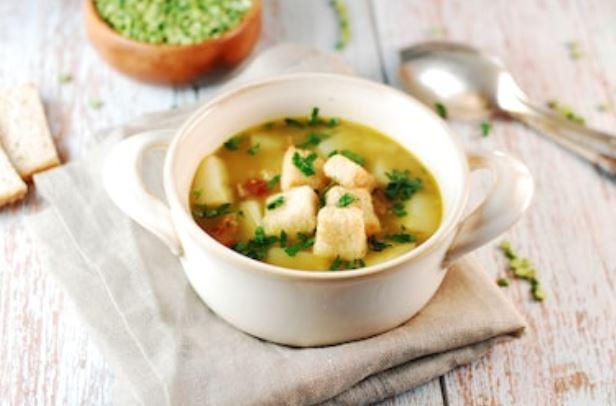 picatostes con sopa