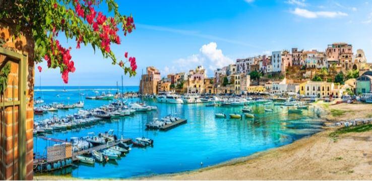 Puerto de Trapani en Sicilia