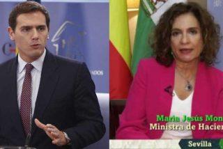"""Rivera triunfa en redes con su respuesta a la 'optimista' Montero: """"Ya tuvimos bastante con el timo de los brotes verdes de ZP"""""""