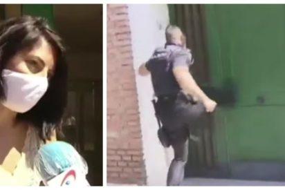 La Policía desaloja a martillazos a los okupas de la casa de la reportera de T5: «Cómo cambia la película cuando la afectada es de Podemos»