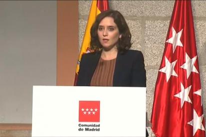 """Isabel Díaz Ayuso: """"Hay que evitar a toda costa el Estado de Alarma porque supone el desastre económico"""""""