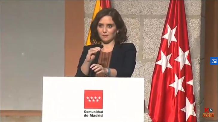 """Díaz Ayuso: """"Juntos haremos lo imposible para recuperar la prosperidad de antes de la pandemia"""""""