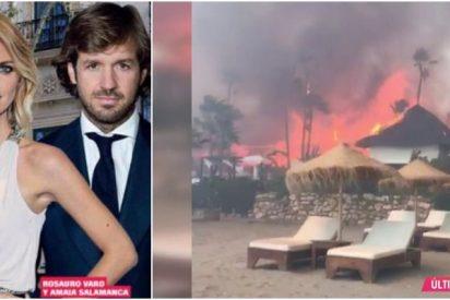 Rosauro Varo y Amaia Salamanca tienen la fórmula para levantar el chiringuito Puro Beach tras su incendio: este es el millonario patrimonio que poseen
