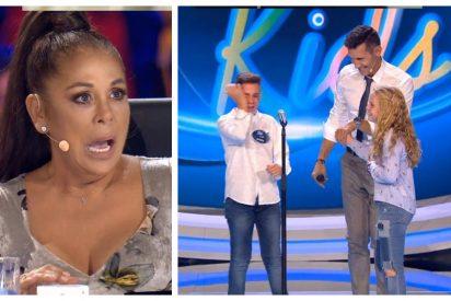 Pantoja alucina con la historia del concursante de 11 años que acude a cantar a Telecinco con su novia y su suegra