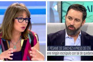 """Santiago Abascal a Ana Rosa: """"Pedro Sánchez está dispuesto a vender a su madre con tal de seguir en el poder"""""""