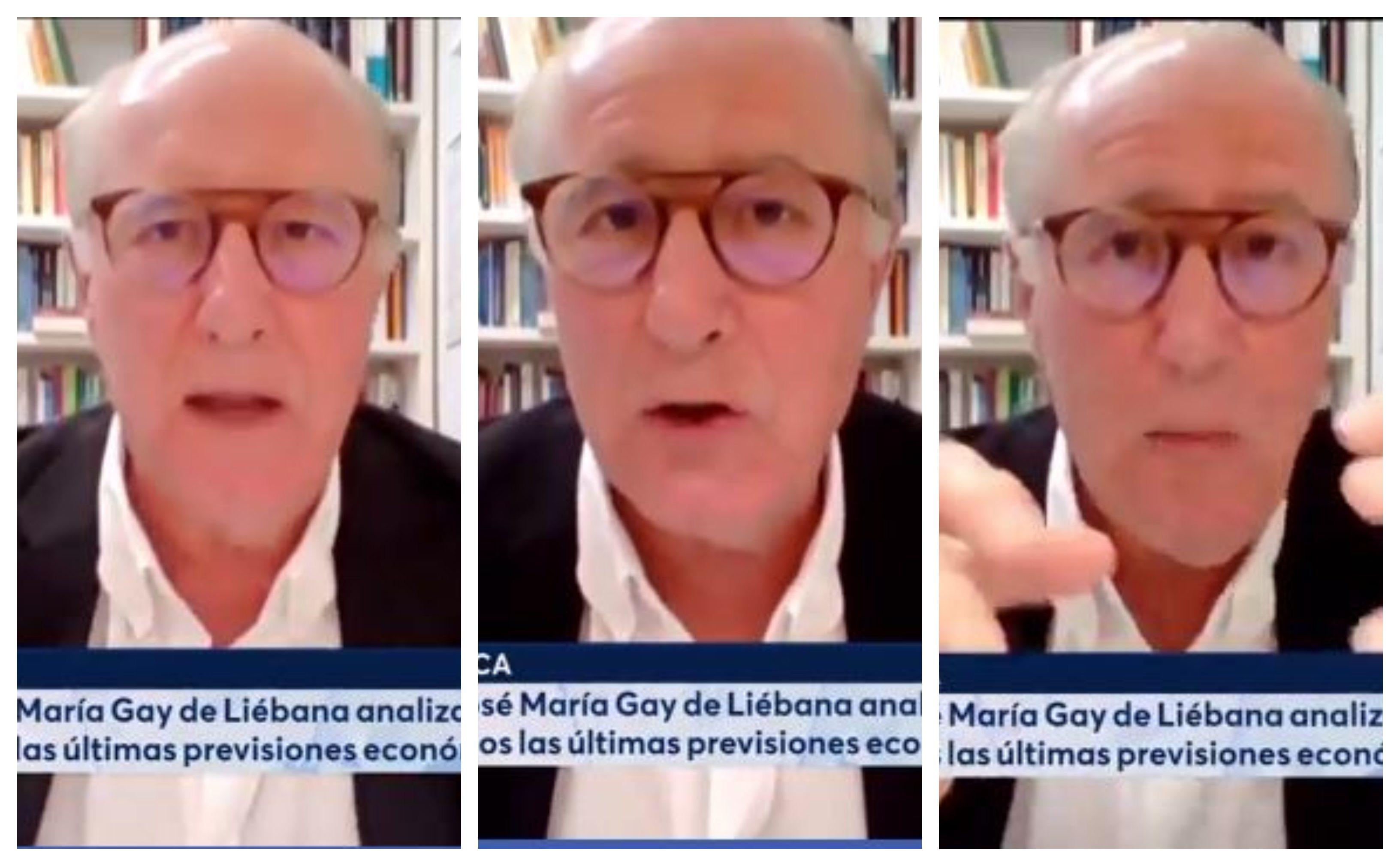 """Gay de Liébana: """"El Gobierno pretende hundir la economía española"""""""