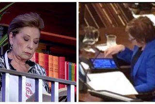 Celia Villalobos cambia la tablet por un libro y se marca otro Candy Crush en la cocina de 'Masterchef'