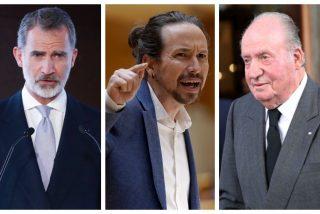 Unidas Podemos exige amordazar a Felipe VI y reclama la 'decapitación' de Juan Carlos I