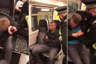 Un policía rocía gas pimienta y detiene a un 'chulo' que se negaba a usar mascarilla en el Metro