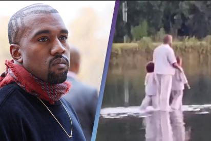 El último disparate de Kanye West: 'Reproduce' un milagro de Jesús caminando sobre el agua
