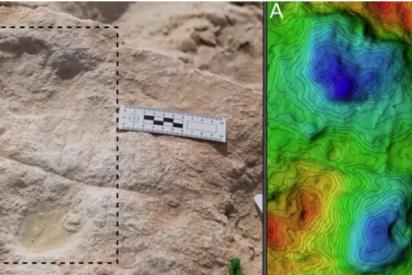 Encuentran huellas humanas de 120.000 años en un antiguo lago de Arabia