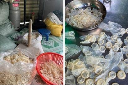 Decomisan 320.000 preservativos usados que eran 'reciclados' para vender como nuevos en Vietnam