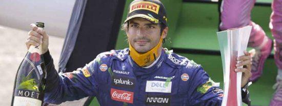 Carácter de guerrero: el mensaje de Carlos Sainz a su ingeniero en la penúltima vuelta del GP de Italia