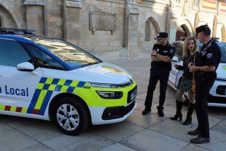 Un violento orina en la patrulla de Policía y agrede a tres agentes en Burgos