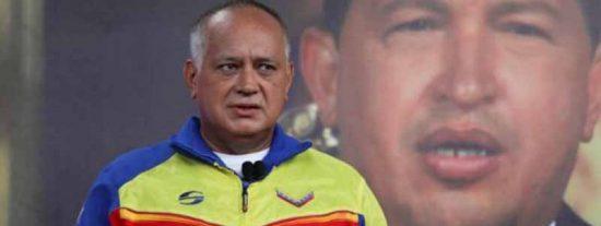 Un picado Diosdado Cabello ataca a la UE por no respalda el fraude electoral de Maduro