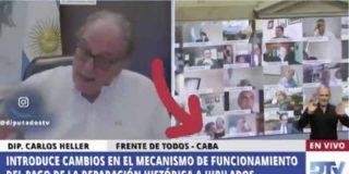 Un diputado kirchnerista deja al 'Merlos Place' en pañales: es pillado en un acto sexual en plena sesión telemática