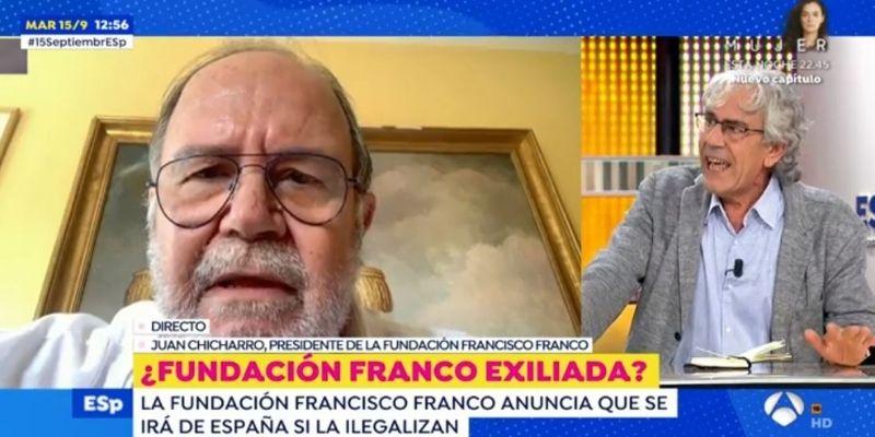 """Tremendo enganchón entre Toni Bolaño y el presidente de la Fundación Franco en Antena3: """"¡Nazi, fascista!"""""""